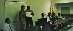 Tom Sheetz accepting Chapter Charter March 20, 1997